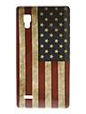 Rétro cas dur de modèle de drapeau américain pour LG Optimus P760 L9
