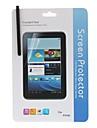 Crystal Clear protetor de tela com pano de limpeza e Touchscreen Stylus para Samsung Galaxy Tab P3100