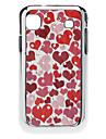 Beau cas dur de modèle de coeur avec strass pour I9000 de Samsung Galaxy