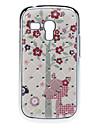 삼성 갤럭시 S3 미니 I8190를위한 모조 다이아몬드 사랑스러운 꽃 패턴 하드 케이스