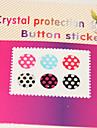 padrão de pontos Joyland botão de adesivo para iphone / ipad / itouch (6 pack)