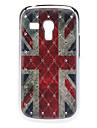 Cas dur de modèle du drapeau britannique avec strass pour Samsung Galaxy S3 mini-I8190