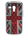 UK Flag Pattern Hard Case with Rhinestone for Samsung Galaxy S3 mini I8190