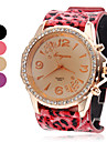 Women's Leopard Style PU Analog Quartz Wrist Watch (Assorted Colors) Cool Watches Unique Watches