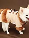 Собаки Плащи Розовый Одежда для собак Зима Классика