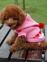 Теплый свитер с капюшоном, для собак кошек (случайный цвет, XS-XL)
