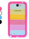 Retour affaire du Rainbow pour Samsung Galaxy Note N7100 2 (couleurs assorties)