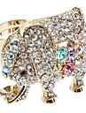 Diamante Elephant Alloy Anel
