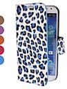 Motif imprimé léopard étui en cuir PU avec support et logement pour carte pour Samsung Galaxy S4 i9500 (couleurs assorties)
