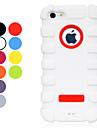 아이폰 5/5S (분류 된 색깔)를위한 솔리드 컬러 충격 방지 실리카 젤 소프트 케이스