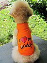 Я люблю моего папу Pattern хлопок жилет для собак (S-XXL)