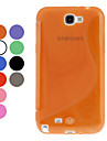 S-образный мягкий чехол TPU для Samsung Galaxy Note N7100 2 (разных цветов)