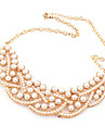 Eruner®Gold Plated Alloy Pearl Twisted Pattern Necklace