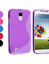 Pure Color TPU Soft Taske til Samsung Galaxy S4 I9500 (assorteret farve)