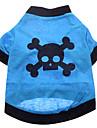 Chien Costume / T-shirt / Tenue Bleu Vêtements pour Chien Eté Crânes Cosplay / Halloween