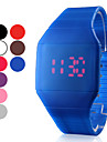 Men's Watch Red LED Digital Square Rubber Band