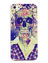 PC черепа в костюме шаблон жесткий футляр для iphone 5/5s
