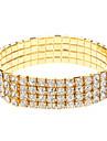Four Rows Golden Diamond Bracelet