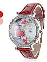 Femmes et d'argile de polymère sofa style PU quartz analogique montre-bracelet de fille (couleurs assorties)