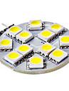 3W G4 Luminárias de LED  Duplo-Pin 12 SMD 5050 50 lm Branco Natural DC 12 V