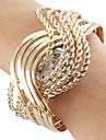 Women's Steel Analog Quartz Bracelet Watch (Gold) Cool Watches Unique Watches