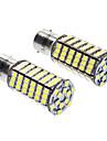 LED лампа (DC 12V, 2 шт. в комплекте), белый свет, 1156/BA15S 7W 6000-6500K 480LM 120x3528SMD