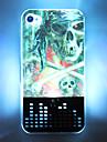 LED de caisse de portable 3D Flash Skull Pirate dur de modèle pour iPhone 4/4S (Multi-couleur)