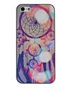 아이폰 5/5S를위한 환상적인 세계 컬러 그림 패턴 블랙 프레임 PC 단단한 상자