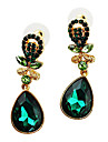Earring Drop Earrings Jewelry Women Party / Daily Alloy / Zircon White / Green KAYSHINE