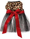 Коты / Собаки Платья Черный Одежда для собак Весна/осень Животный принт Свадьба