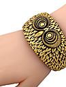 Huge Big Owl Face Plastic Bracelet Bangle
