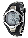 Unisex Calorie Counter Black Silicone Band Digital Wrist Watch with Heart Rate Monitor Cool Watch Unique Watch