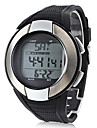 Unisex Heart Rate Monitor Silver Frame Black Silicone Band Digital Wrist Watch with Calorie Counter Cool Watch Unique Watch Fashion Watch