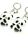 1 пара Прекрасный Panda брелок черный и белый