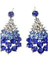 Boucles d'oreille goutte Imitation de diamant Alliage Goutte Blanc Bleu Bijoux Soirée Quotidien