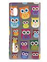 Corujas dos desenhos animados bonitos em Linha Padrão Hard Case para LG E610 Optimus L5