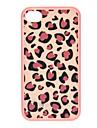 Pink Leopard Print deslizante com Hard Case Voltar destacável para iPhone 4 - Branco + Rosa