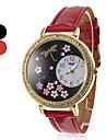 Mulher e Dragonfly Pattern PU Analógico Quartz Relógio de pulso da menina (cores sortidas)