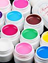 12pcs cor pura Gel UV e secagem rápida polonês limpador (12 mm)