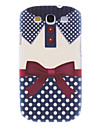 Matte Style Bowknot Shirt Pattern Durable Hard Case for Samsung Galaxy S3 I9300
