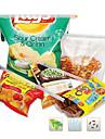 18,5 centímetros coloridas Clipes Bag selado (4pcs)