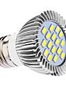 E26/E27 LED 스팟 조명 MR16 16 SMD 5630 450 lm 내추럴 화이트 AC 110-130 AC 220-240 V