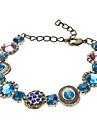 Vintage Colored Gems incrusté de diamants Bracelet