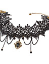 Vintage Alloy Flower Pattern Lace Necklace