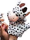 2PCS pai-filho Hand & Finger Puppets Cattles lácteos
