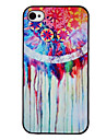 Colorful caisse noire Snowflake couleur de dessin de trame dure de PC pour l'iPhone 4/4S