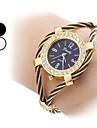 Модные женские стали аналоговые кварцевые часы браслет (разных цветов)