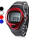 남성 손목 시계 디지털 LCD 달력 크로노그래프 방수 경보 고무 밴드 블랙