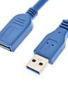 USB 3.0 тип мужчина к USB 3.0 тип женщин Полный упаковке кабель синий (1,5)