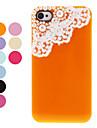 Защитный чехол назад с жемчугом и кружева для iPhone 4/4S (разных цветов)